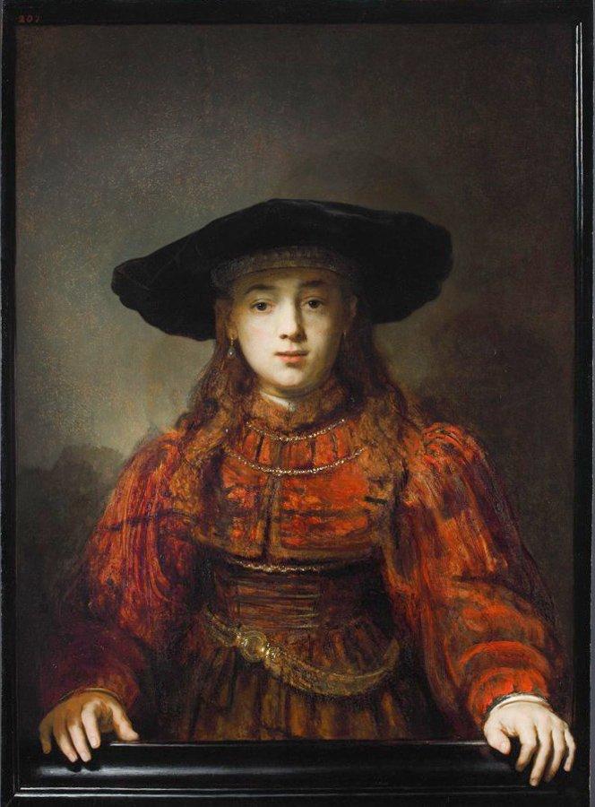 Dziewczyna w ramie obrazu, Zamek Królewski w Warszawie, ze zbiorów Karoliny Lanckorońskiej, Wikicommons