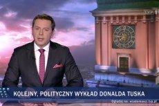 """""""Wiadomości"""" TVP znowu zaatakowały Donalda Tuska i opozycję."""