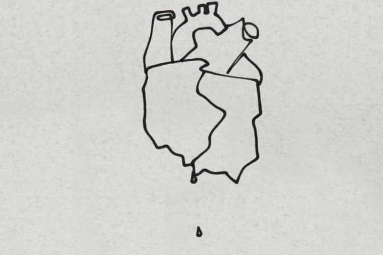 Matylda Damięcka narysowała krwawiące serce