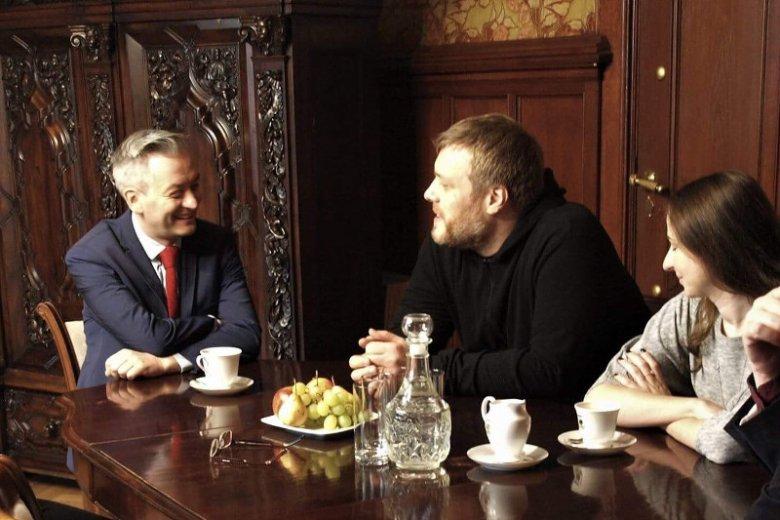 Czy spotkanie prezydenta Słupska Roberta Biedronia i Adriana Zandberga z Partii Razem to początek współpracy?