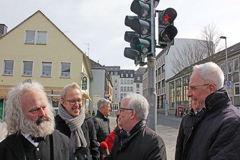 Karol Marks trafił na lampy sygnalizacji świetlnej dla pieszych w Trewirze