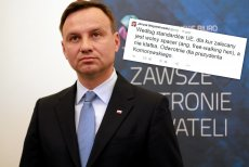 Na konferencji Andrzej Duda unikał odpowiedzi na temat kontrowersyjnego wpisu swojego współpracownika Janusza Wojciechowskiego.