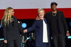 Wśród gwiazd wspierających Clinton byli m.in. Beyonce i Jay-Z.