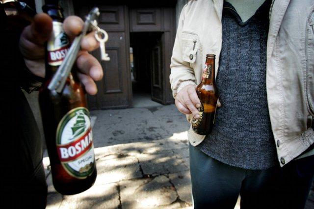 """Radomianin dostał mandat za """"usiłowanie picia"""""""