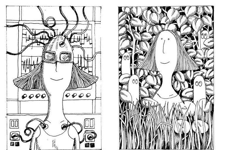 Przykładowe ilustracje, jakie znajdziemy w książce ''Natura leczy''