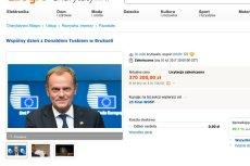 740 300 zł - w sumie za tyle sprzedano dwa spotkania z Donaldem Tuskiem