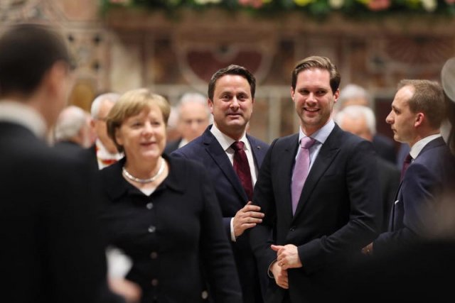Premier Luksemburga Xavier Battel i jego mąż Gauthier Destinay.