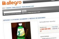 """Butelka napoju Zbyszko 3 Cytryny, który """"zajumała"""" Chytra baba z Radomia, na Allegro warty jest już miliard złotych!"""