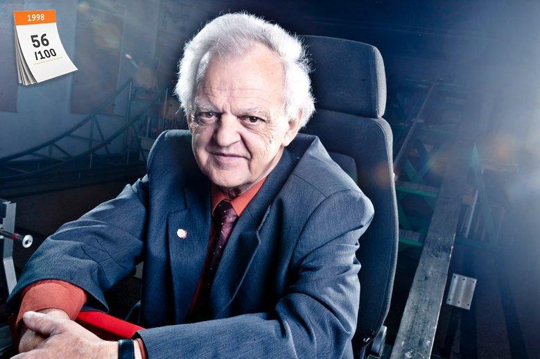 Lucjan Łągiewka opracował prototyp zderzaka, o którym mówiono, że łamie prawa wynalazki. Pokaz wynalazku przeprowadzono w listopadzie 1998 roku na stadionie w Kowarach