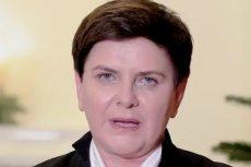 Beata Szydło złożyła życzenia, recytując tekst mało znanej kolędy.