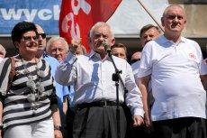 Politycy lewicy podczas tegorocznego pochodu 1-majowego.