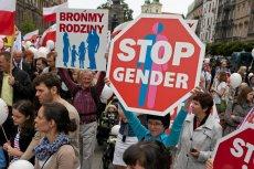 """""""Marsz dla życia i rodziny"""" w Krakowie w 2014 r."""