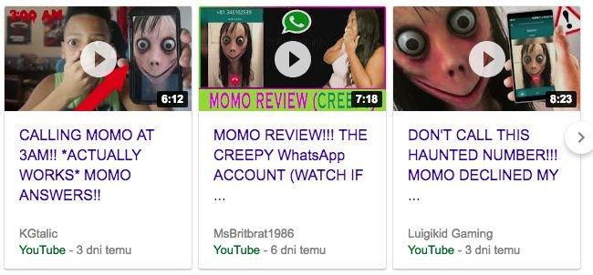 W internecie jest mnóstwo filmików o Momo