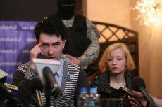 Bartłomiej i Katarzyna Waśniewscy na konferencji prasowej
