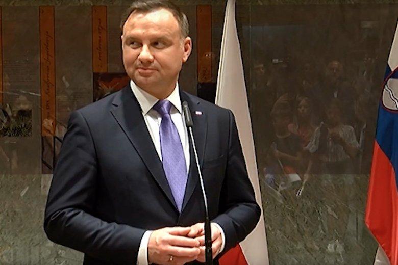 Słowacja czy Słowenia? Pomyłka na profilu Kancelarii Prezydenta Andrzeja Dudy na Twitterze.