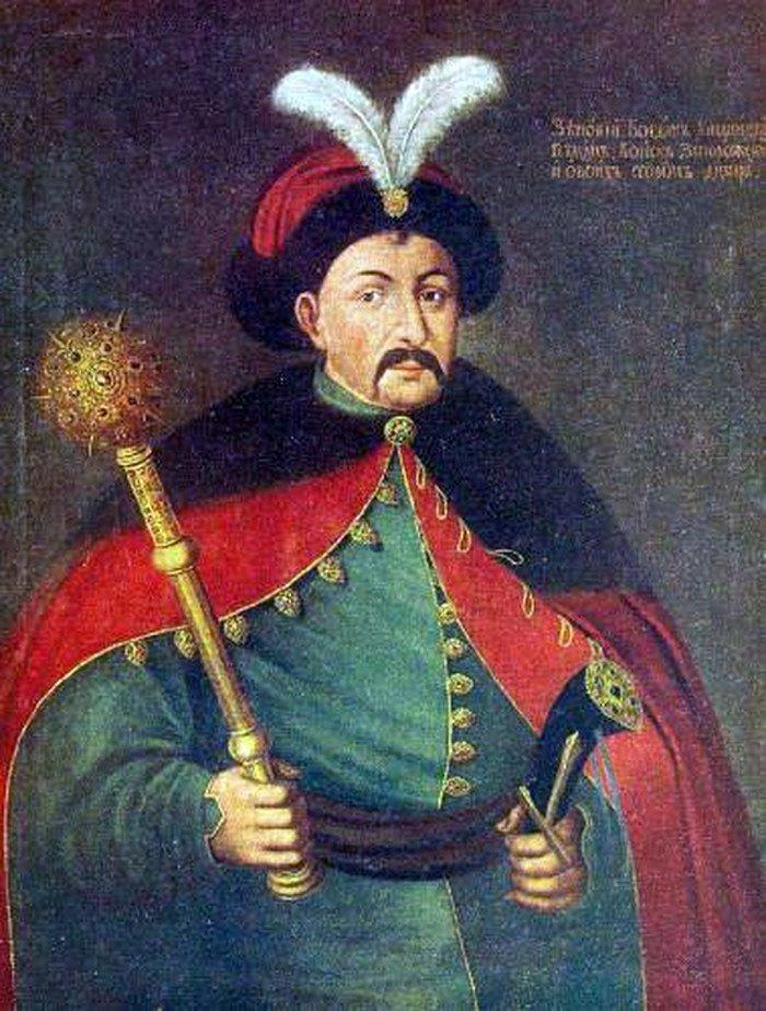 Bohdan Chmielnicki - przywódca kozackiego powstania przeciw Rzeczpospolitej.