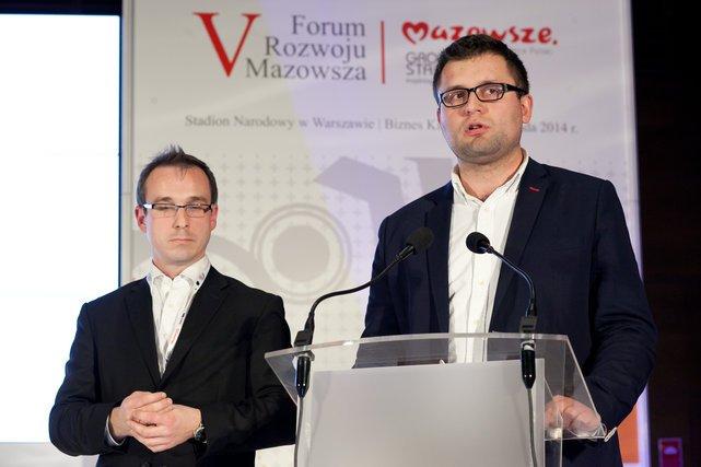 Od lewej:  Łukasz Karpiesiuk i Michał Pękała z Baker & McKenzie