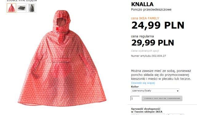 Peleryna, Ikea