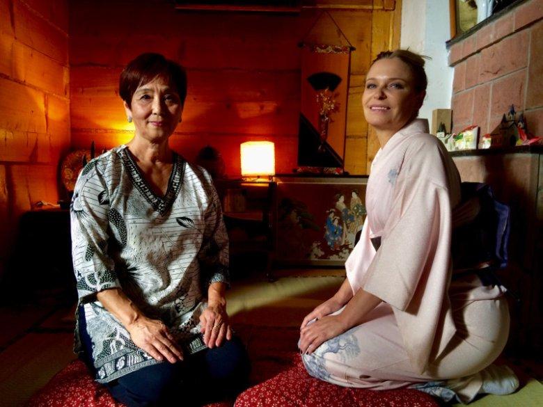 Akiko Miwa i Paulina Młynarska