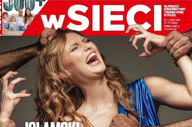 """Okładka """"wSieci"""" zdobyła złą sławę na całym świecie - była porównywana m.in. do okładek nazistowskiej gadzinówki """"Der Sturmer""""."""