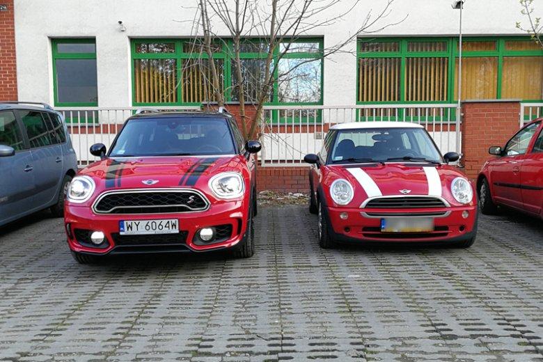 Mini, wszędzie Mini. Po lewej testowany Countryman.