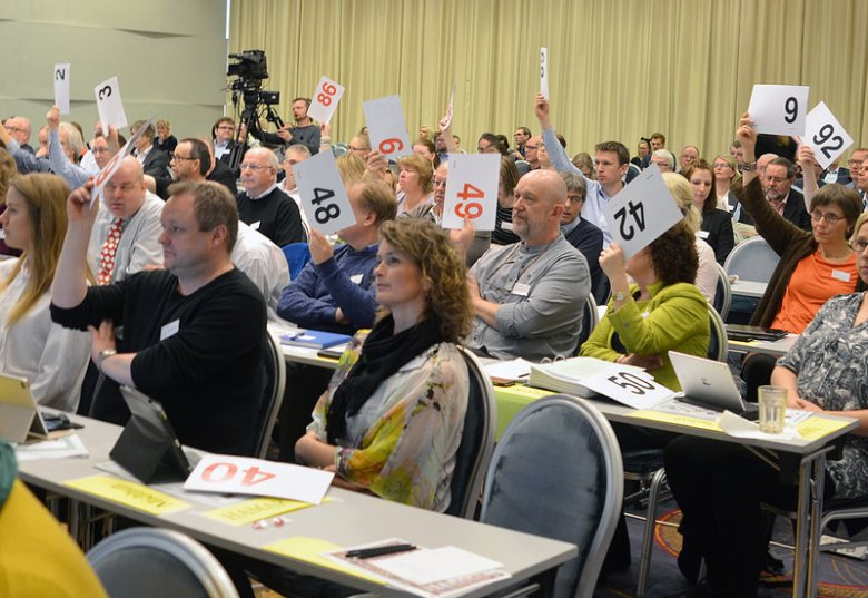 Głosowanie na synodzie Kościoła Norweskiego