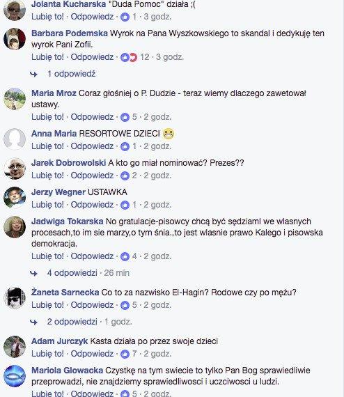 """W komentarzach na facebookowej  stronie niezależna.pl trwa """"lincz"""" na sędzi El-Hagin"""