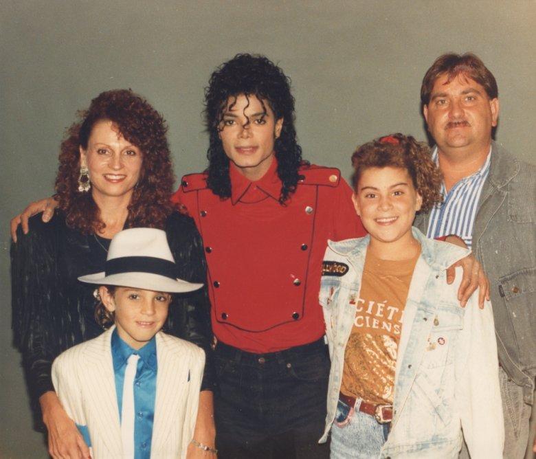Jackson był przyjacielem całej rodziny Robsonów (luty 1990 r.)