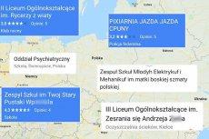 Nowa moda wśród internautów - antyreklama szkoły w internetowych mapach
