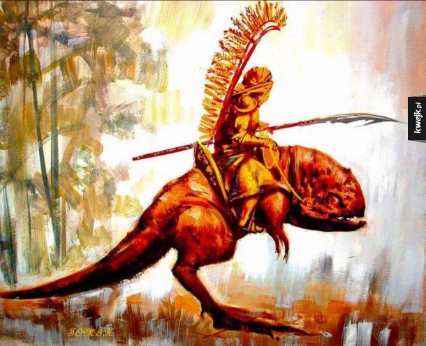 Pierwsi husarze prehistorycznego Imperium Lechitów dosiadali dinozaurów