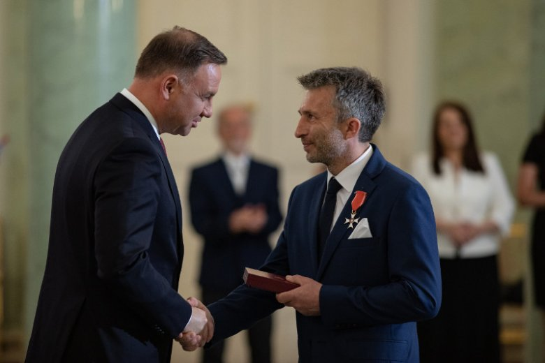Piotr Tomala odznaczony Krzyżem Kawalerskim Orderu Odrodzenia Polski przez prezydenta Andrzeja Dudę