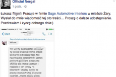 Nergal zdemaskował hejtera, który wyzwał go w prywatnej wiadomości.