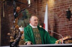 Ks. Ludwik Kowalski, obecny proboszcz św. Brygidy  przewodniczył mszy w intencji prałata Jankowskiego