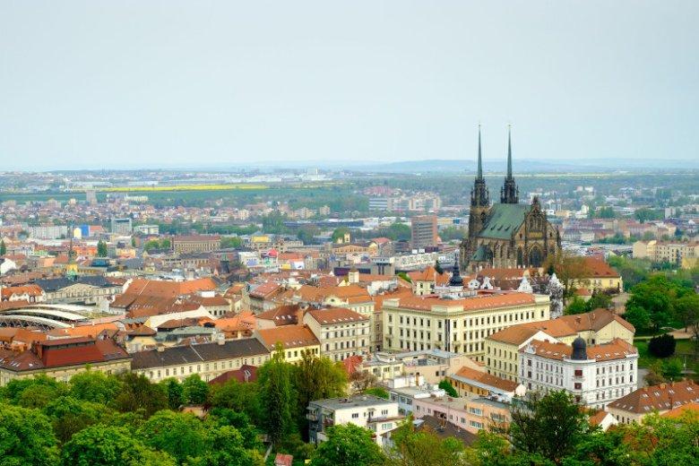Brno, widok z zamku Špilberk
