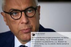 Roman Giertych zaatakował Śmiszka i Biedronia w homofobicznym tweecie