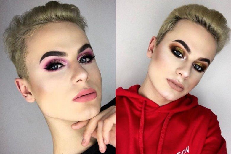 Staś Wołosz uwielbia kolorowy make-up