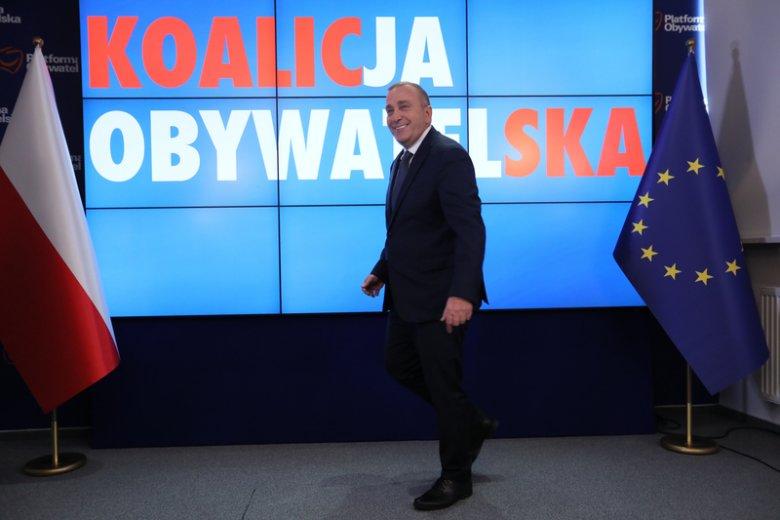 Grzegorz Schetyna zaprezentował jedynki Koalicji Obywatelskiej w wyborach do Sejmu. Sam będzie kandydował z pierwszego miejsca w Warszawie.