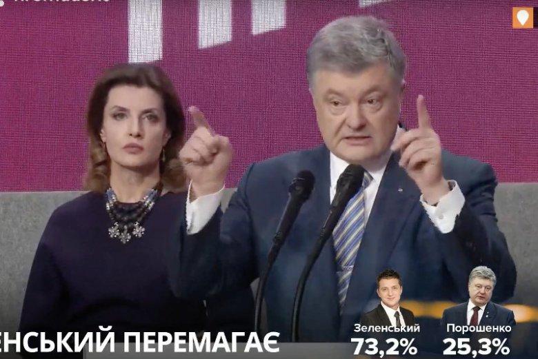 Petro Poroszenko, dotychczasowy prezydent Ukrainy, uznaje swoją porażkę.