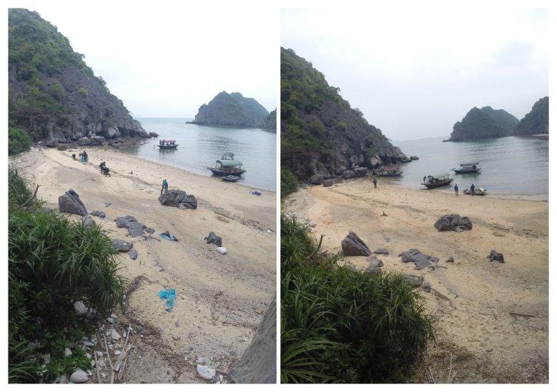 Plaża przed i po czyszczeniu. Jestem z nas dumny.