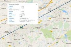 Spółka PKP PLK udostępniła internautom interaktywną mapę, na której można sprawdzać aktualne położenie pociągów