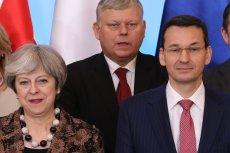 To pierwsze spotkanie Mateusza Morawieckiego w roli premiera z Theresą May.