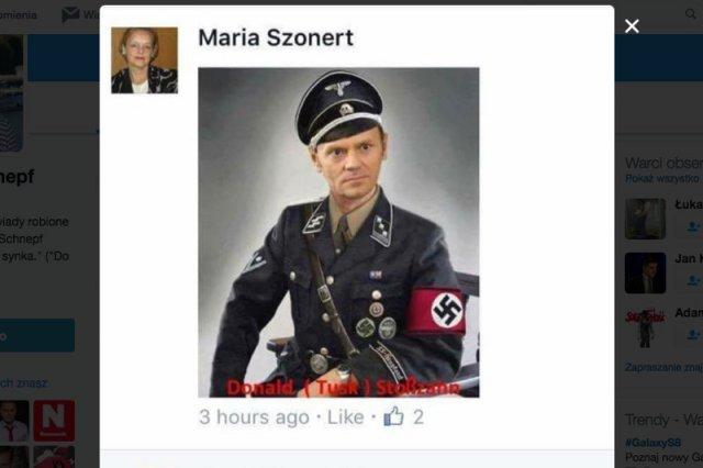 Nowa konsul honorowa w USA publikuje zdjęcia Tuska w mundurze SS i Sikorskiego obok szubienicy. Gdzie reakcja MSZ?