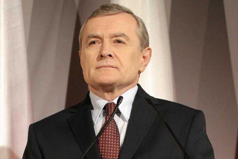 """Prof. Piotr Gliński podczas konferencji prasowej przedstawiał program """"swojego"""" rządu"""
