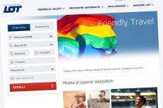 """Nowa wersja serwisu LOT """"Friendly Travel"""" przemilcza już fakt, że to oferta skierowana do osób ze środowiska LGBT."""