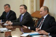Władimir Putin podczas spotkania z przedstawicielami Shella