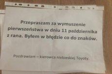 Jak pokazuje przykład z Poznania, kultura na drodze obowiązuje też w Polsce.