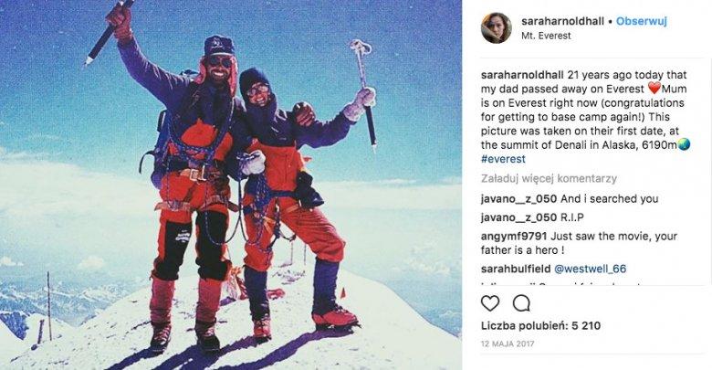 Rob Hall i Jan Arnold – zdjęcie z Instagrama ich córki.