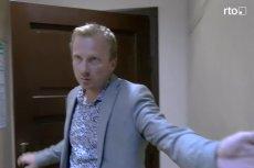 Prokurator Sebastian Litwin wyrzucił dziennikarza za drzwi, nie odpowiadając na żadne z jego pytań.