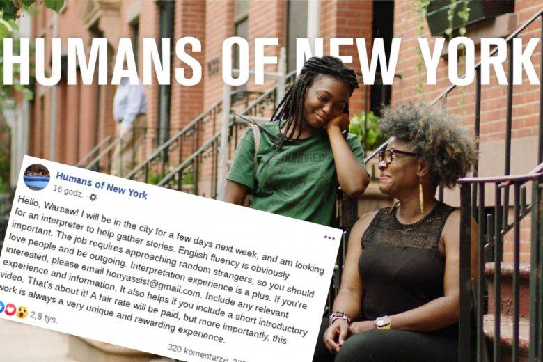 """Autor słynnego bloga """"Humans of New York"""" będzie w Warszawie na początku września"""
