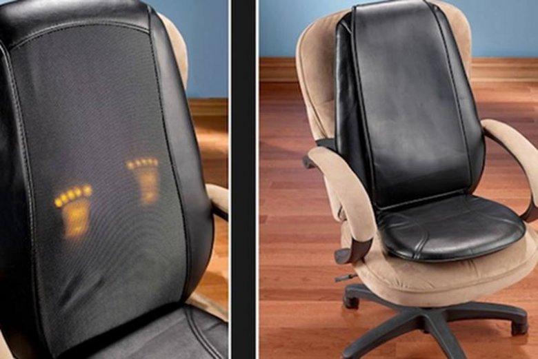 """Fotel z elektrycznym masażem tajskim, wykonywanym przez ciepłe """"stopy""""."""